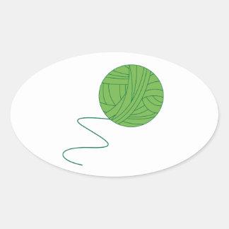 Green Ball of Yarn Stickers