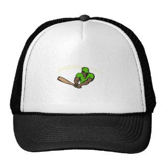 Green ball player mesh hat