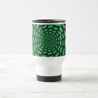 Green Ball Spiral Tunnel Stainless Steel Travel Mug