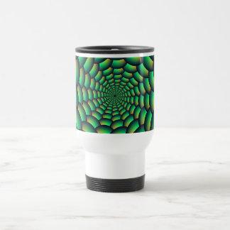 Green Ball Spiral Tunnel Stainless Steel Travel Mug