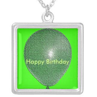Green Balloon Necklace