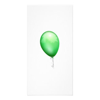 Green Balloon Personalized Photo Card