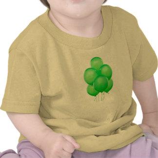 Green Balloons Baby Tee
