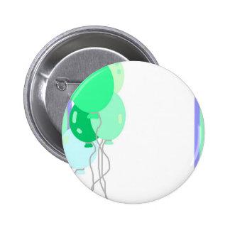 Green Balloons 6 Cm Round Badge