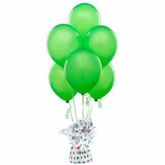 Green Balloons Magnet Photo Cut Outs
