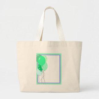Green Balloons Canvas Bag
