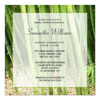 Green Bamboo Asian Bridal Shower 13 Cm X 13 Cm Square Invitation Card