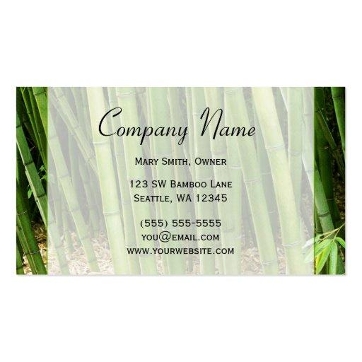 Green Bamboo Asian Pack Standard Business Cards
