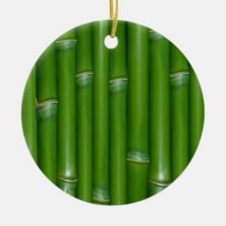 Green Bamboo Christmas Ornament