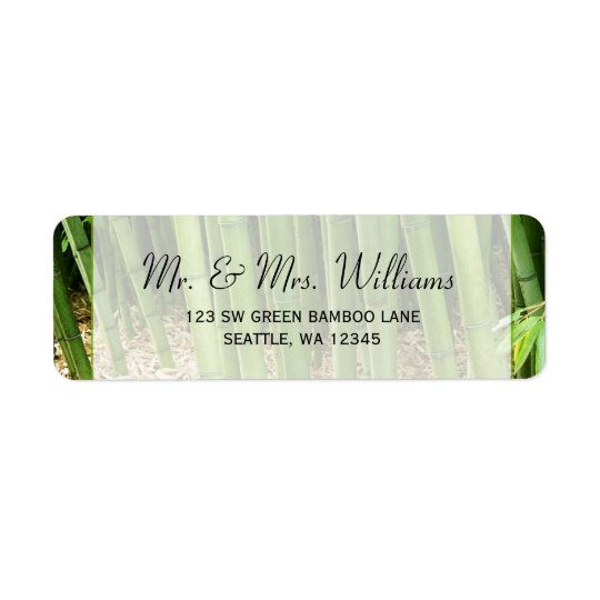 Green Bamboo Custom Address Label