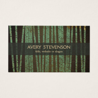 Green Bamboo Holistic Therapist Healer Business Card
