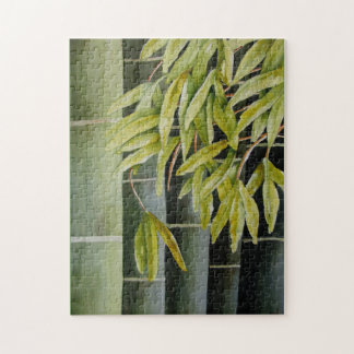 Green Bamboo Jigsaw Puzzle