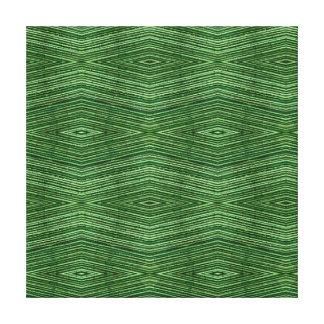 Green Bamboo Modern Diamond Pattern Stretched Canvas Prints