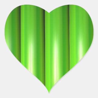 Green bamboo set heart sticker