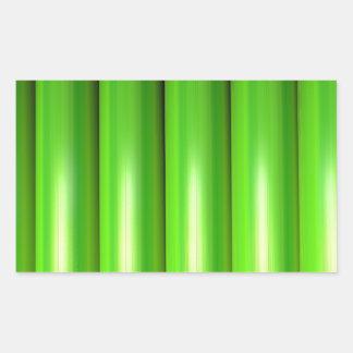 Green bamboo set rectangular sticker