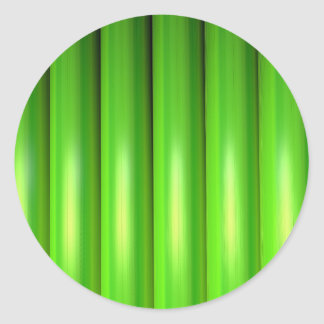 Green bamboo set round sticker