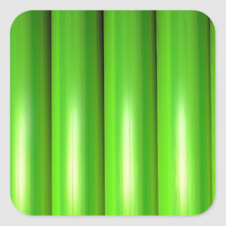 Green bamboo set square sticker