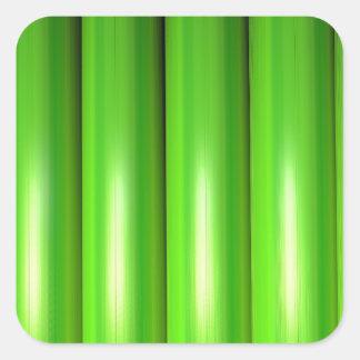 Green bamboo set square sticker