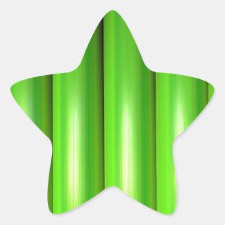 Green bamboo set star sticker