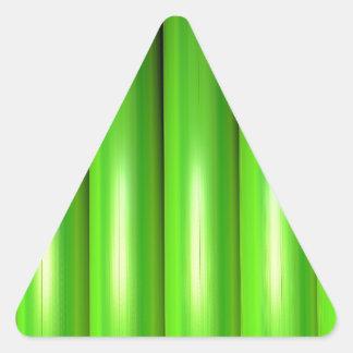 Green bamboo set triangle sticker