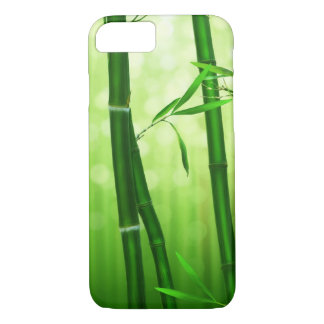 Green Bamboo With Pale Bokeh Lights In The Back iPhone 7 Case