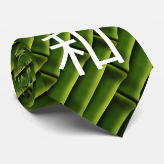 Green Bamboo with Serenity in Japanese Tie