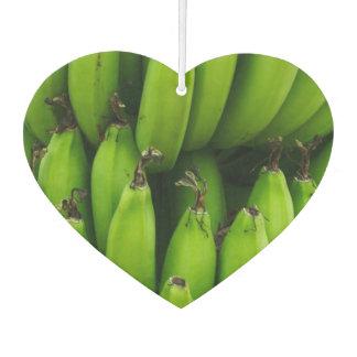 Green banana fruit pattern car air freshener