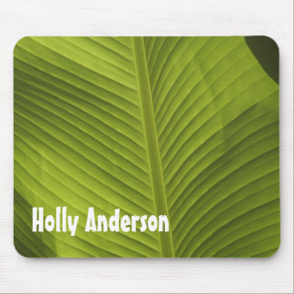 Green Banana Leaf Photo 9 in Light, Personalized Mouse Mat