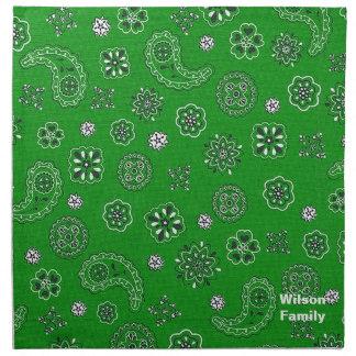 Green Bandana Napkins