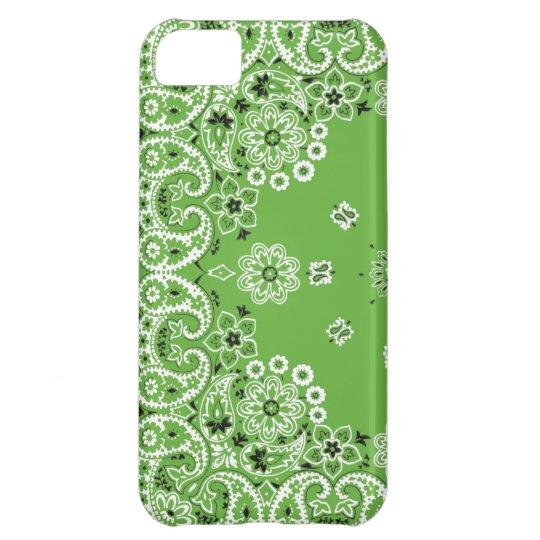 Green bandanna iPhone 5c cover