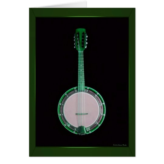 Green Banjo Card