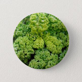 Green bare 6 cm round badge