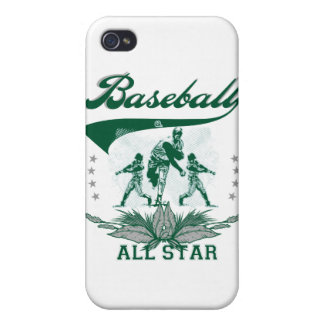 Green Baseball All Star and Gifts iPhone 4 Cases