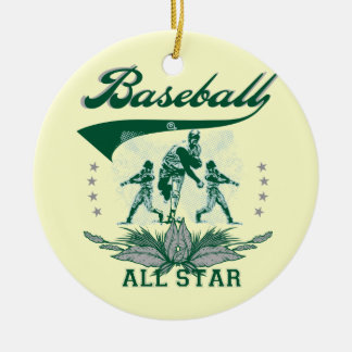 Green Baseball All Star T-shirts and Gifts Christmas Ornament