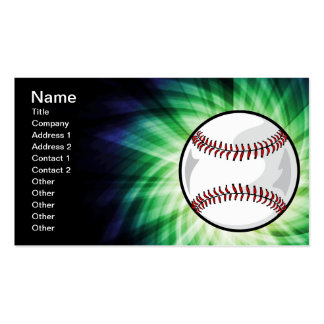Green Baseball Double-Sided Standard Business Cards (Pack Of 100)