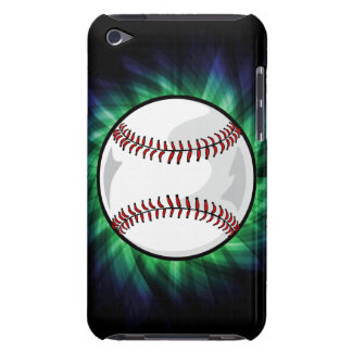 Green Baseball Barely There iPod Cases