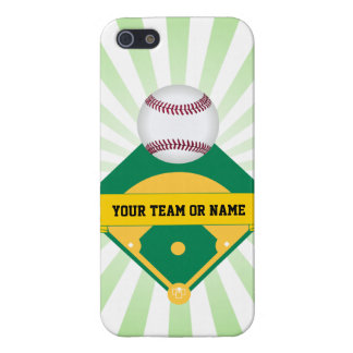 Green Baseball Field with Custom Team Name iPhone 5/5S Covers
