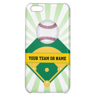 Green Baseball Field with Custom Team Name iPhone 5C Case