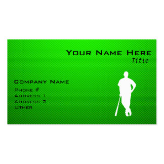 Green Baseball Pack Of Standard Business Cards