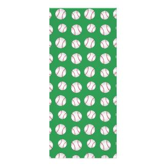 Green baseballs personalized rack card