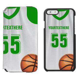 Green  BasketBall Dress Name Number Incipio Watson™ iPhone 6 Wallet Case
