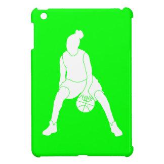 Green Basketball Girl iPad Mini Case