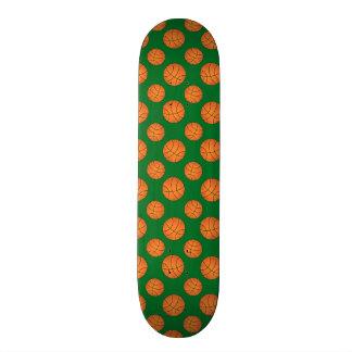 Green basketball pattern skateboard deck