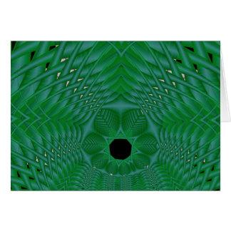 green basketweave greeting card