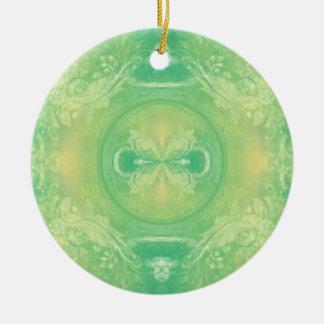 Green Batik Ornament