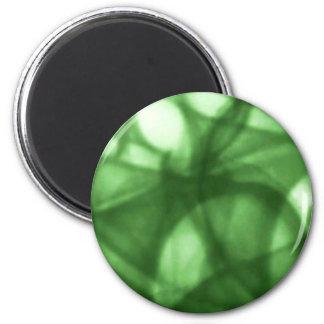 green_batik_pattern fridge magnets