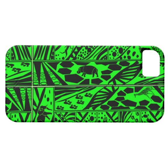 Green Batik style I phone case