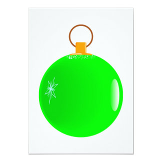 Green Bauble Christmas Invitations. Card