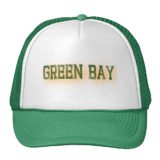 Green Bay Green and Gold Grunge Sports Cap