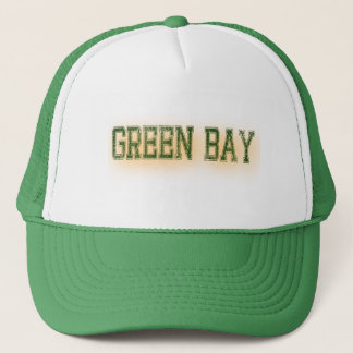 Green Bay Green and Gold Grunge Sports Trucker Hat